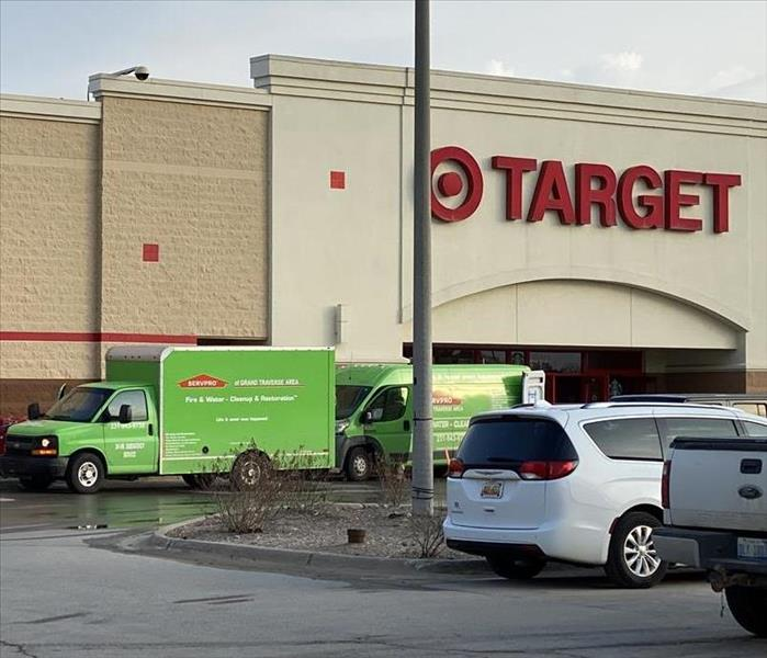 SERVPRO vans in front of the Target Store