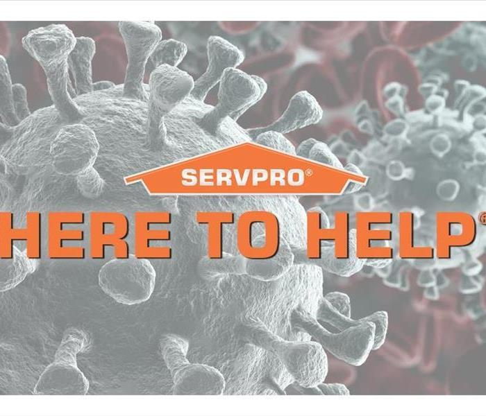 SERVPRO logo on coronavirus picture